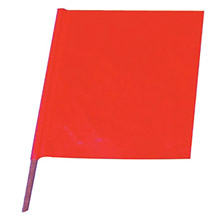 "Cortina Safety Products CTM03-229-3417 18"" X 18"" Red And Orange Heavy Duty Vinyl Handheld Warning Flag With 24"" Wood Dowel Handle"
