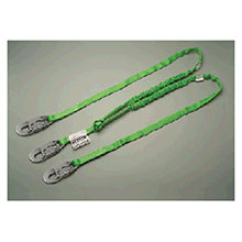 Miller Honeywell Lanyard 6 Green Two Leg Manyard HP Shock Absorbing 232TWLSZ76FG