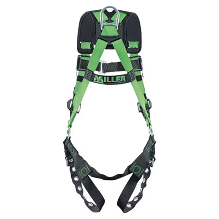 Miller By Honeywell DFPR10CNTBUGN Universal Revolution Construction/Full  Body Style Harness With Mating Chest Strap Buckle, Tongue Leg Strap Buckle,