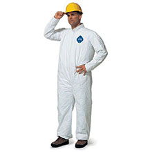 Dupont  Medium White 5.4 mil Tyvek Disposable Coveralls TY120SWHMD00