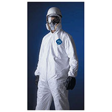 Dupont  Large White 5.4 mil Tyvek Disposable Coveralls TY127SWHLG00