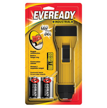 Energizer E33EVINL25S Yellow Industrial Economy Flashlight With LED