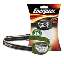 Energizer Batteries Camoflauge LED Pivoting Headbeam Flashlight HDL33AINE