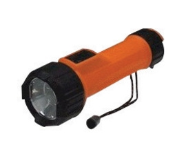 Energizer E3MS23DLED Intrinsically Safe Flashlight With LED (Requires 2 D-Batteries-Sold Separately), With Lanyard, Orange And Black