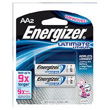 Energizer Batteries Ultimate AA Lithium L91BP-2