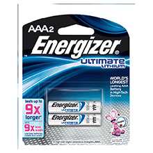 Energizer Batteries Ultimate AAA Lithium L92BP-2