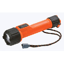 Energizer Batteries Orange LED Industrial Safety Flashlight MS2AALED