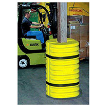 Eagle Manufacturing Yellow Black Column Protector 6in Column 1706