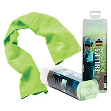 "Ergodyne E5712439 13"" X 29 1/2"" Hi-Viz Lime Chill-Its 6602 PVA Evaporative Cooling Towel"