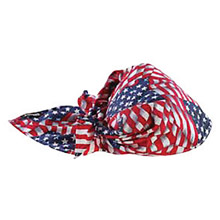 Ergodyne E5712581 Stars And Stripes Chill-Its 6710CT Advanced PVA Evaporative Cooling Triangle Hat With Tie Closure And Towel