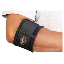 Ergodyne E5716002 Small Black ProFlex 500 Nylon Laminated Neoprene Ambidextrous Elbow Support With Hook And Loop Closure