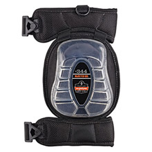 Ergodyne E5718344 Black ProFlex 344 Injeted Gel PU Foam Broad Cap Knee Pad With -2- Elastic Buckle Straps