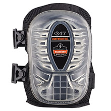 Ergodyne E5718348 Black ProFlex 347 Gel EVA Foam Lightweight Knee Pad With Velcro Closure, Long Cap And Elastic Straps