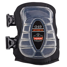 Ergodyne E5718349 Black ProFlex 349 Gel EVA Foam Lightweight Broad Cap Knee Pad With -2- Elastic Buckle Straps
