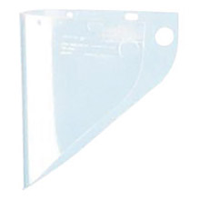 "Fibre-Metal by Honeywell FIB4199CL High Performance Model 4199 9 3/4"" X 19"" X .06"" Clear Injection Molded Propionate Extended View Faceshield For Use With Models F400 And F500 Mounting Crown"