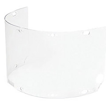 "Fibre-Metal by Honeywell FIB4750CL High Performance Model 4750 8"" X 16 1/2"" X .06"" Clear Injection Molded Propionate Wide View Faceshield For Use With FM70DC Dual Crown High Performance Faceshield System"