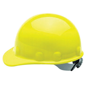 Fibre-Metal by Honeywell FIBE2RW02A000 Yellow Class E Type I SuperEight Thermoplastic Cap Style Hard Hat With 8-Point Ratchet Suspension