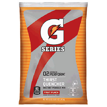 Gatorade 51 Ounce Instant Powder Pouch Fruit Punch 33690