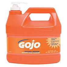 GOJO GOJ0948-04 1/2 Gallon Bottle White to Gray Natural* Orange Citrus Scented Smooth Hand Cleaner With Pump Dispenser