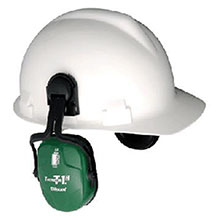 Howard Leight By Honeywell Thunder T1H Light Green Metal Helmet Mount 1011601