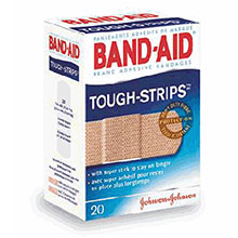 Johnson & Johnson 1in X 3 1 4in Band Aid Tough Strips Strip 4408