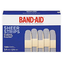 Johnson & Johnson 3 4in X 3in Band Aid Comfort Flex Sheer 4634