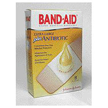Johnson & Johnson 1 3 4in X 4in Band Aid Plus Antibiotic 5567