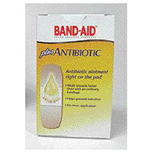 Johnson & Johnson Assorted Sizes Band Aid Plus Antibiotic 5570