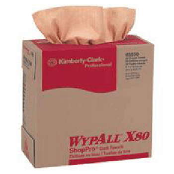 Kimberly-Clark Professional 9.75in X 16.75in Orange WYPALL X80 Towels 5930