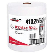 Kimberly-Clark Professional 12 1 2in X 13.4in White WYPALL X80 SHOPPRO 41025-50