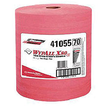 Kimberly-Clark Professional 12 1 2in X 13.4in Red WYPALL X80 SHOPPRO Jumbo 41055