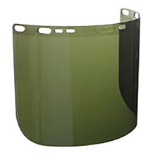 "Kimberly-Clark Professional K4526262 Jackson Safety 26262 Model F50 8"" X 15 1/2"" X .06"" Green Shade 3 Unbound Polycarbonate Faceshield For Use With Headgear"
