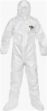 Lakeland Industries Chem Max 2 Coverall Attached Boots & Hood, Elastic Face and Wrists, C2T151