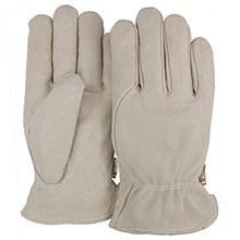 Majestic Leather Palm Gloves Pig Skin Keyst.Thumb Kevlar 1510PK