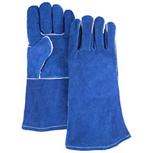 Majestic Welders Gloves Welding Blue Side Split 1514BL