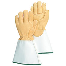 Majestic Linesman Gloves Linemans Elk Double Palm Gauntlet 1516E