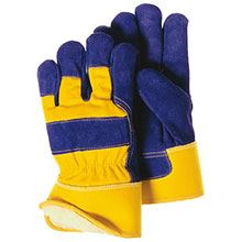 Majestic Work Gloves Blue Yellow Lined 1600