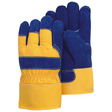 Majestic Work Gloves Blue Yellow Lined Dry 1600W