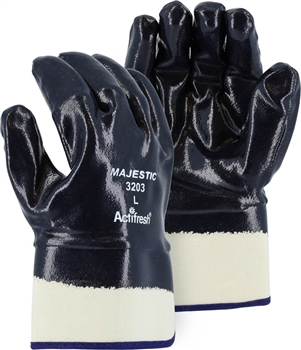 Majestic Nitrile Gloves Coated Safety Cuff 3203