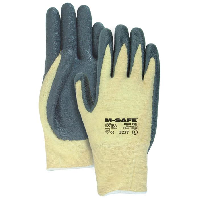 Majestic Nitrile Gloves Foam Palm Coat Kevlar 3227