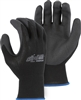 Majestic PVC Gloves Palm Black Knit 3368