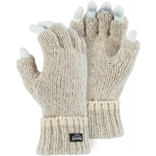 Majestic Work Gloves Ragg Wool Fingerless Thinsulate, Size L, 3424
