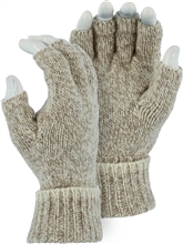Majestic Work Gloves Ragg Wool Knitted Fingerless 3427