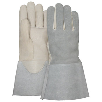 Majestic Welders Gloves Tig Welder Goat Palm Gauntlet Guncut 3506G
