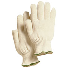 Majestic String Gloves White Knit Polyester 3909W