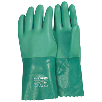 Majestic Neoprene Gloves Sand Finish Green 12In 4005