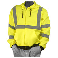 Majestic Fleece Jacket Hood HV Yellow Cl3 75-5323