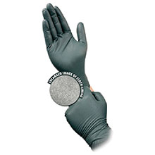 Microflex Medical Gloves X Large Dark Green Dura Flock 8 mil Nitrile DFK-608-XL