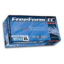 Microflex Medical Gloves 2X Blue 11.4in FreeForm EC 6 mil Nitrile FFE-775-2X
