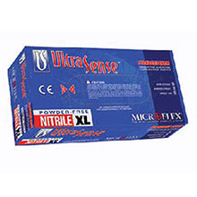 Microflex Medical Gloves Medium Blue 9.5in UltraSense 3 1 2 mil Nitrile US-220-M